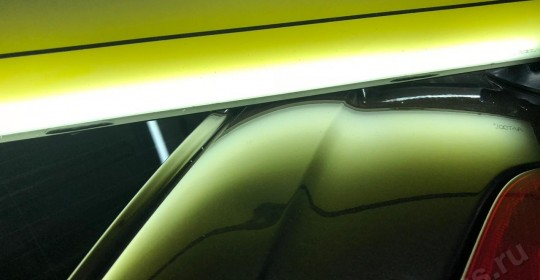 Вытягивание вмятин без покраски Шкода на багажнике в Москве на алексеевской