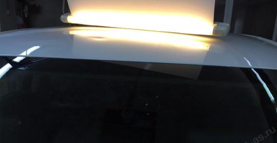 Удаление вмятин на крыше без покраски методом PDR. Фото ДО