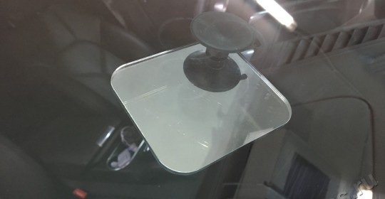 Ремонт многолучевой трещины лобового стекла на автомобиле Porsche Cayenne