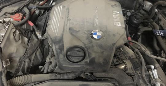 Мойка двигателя паром BMW 520