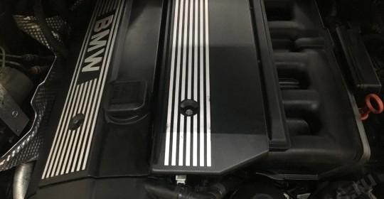 Мойка двигателя паром BMW 520 с консервацией