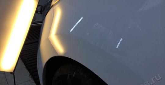 Удаление вмятин без покраски на переднем крыле Хундай на Алексеевской